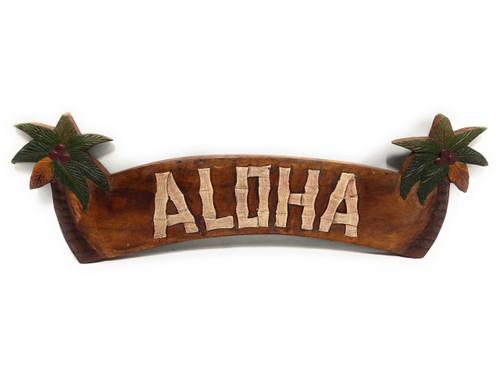 "Aloha Sign 22"" w/ Pam Trees - Welcome Sign   #bag1500354"