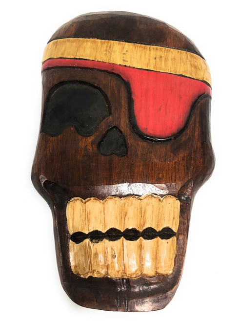 "Holy Skully Pirate Head Wall Plaque 12"" - Skull Decor   #dpt526230"