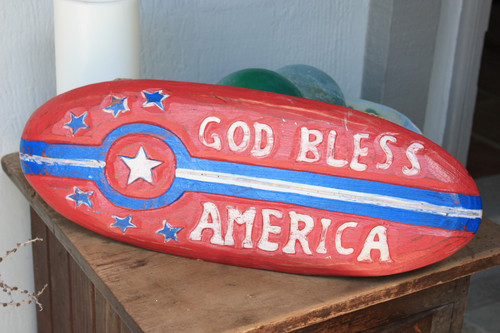 "God Bless America Patriotic Sign 20"" Wooden - Texas Decor Accent | #dpt530250"