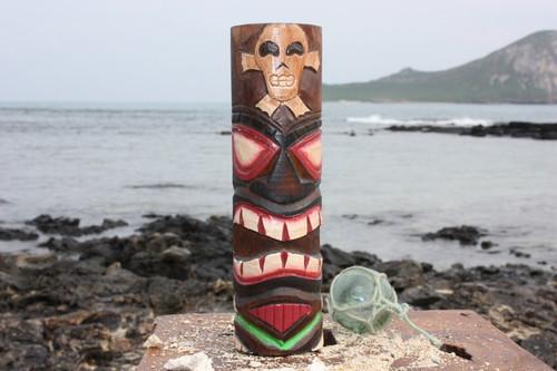 "Tiki Totem 10"" w/ Cross Bone - Skull Decor | #dpt535825h"