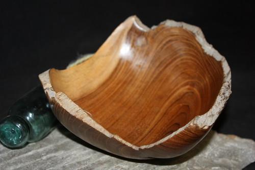 "Rustic Wooden Bowl 8""X8""X3.5"" Teak Root | #HWA107"
