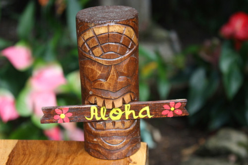 "Winner Tiki Totem 6"" w/ Aloha sign - Hawaii Gifts 