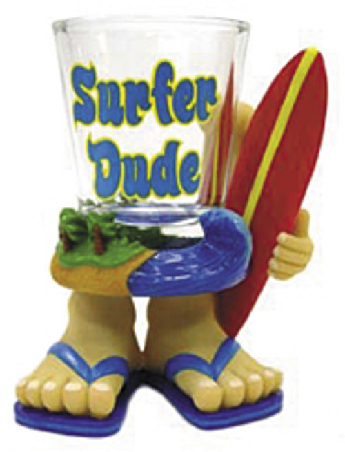 SURFER DUDE - NOVELTY SHOT GLASS - TIKI
