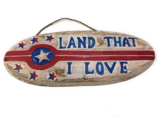 "Land That I Love Patriotic Sign 20"" Wooden - Texas Decor Accent | #dpt530350"