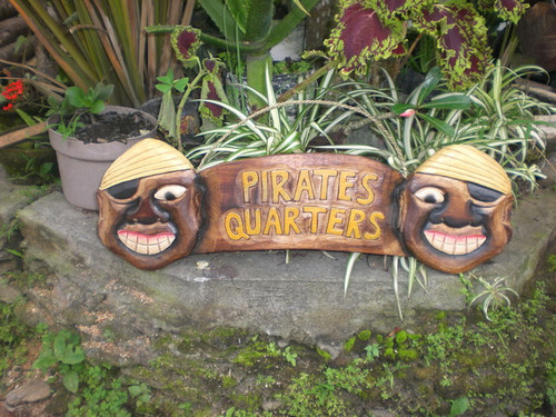 """Pirate's Quarters Sign 24"""" - Pirate Decor - Hand Carved 