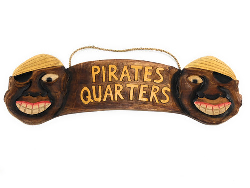 "Pirate's Quarters Sign 24"" - Pirate Decor - Hand Carved 