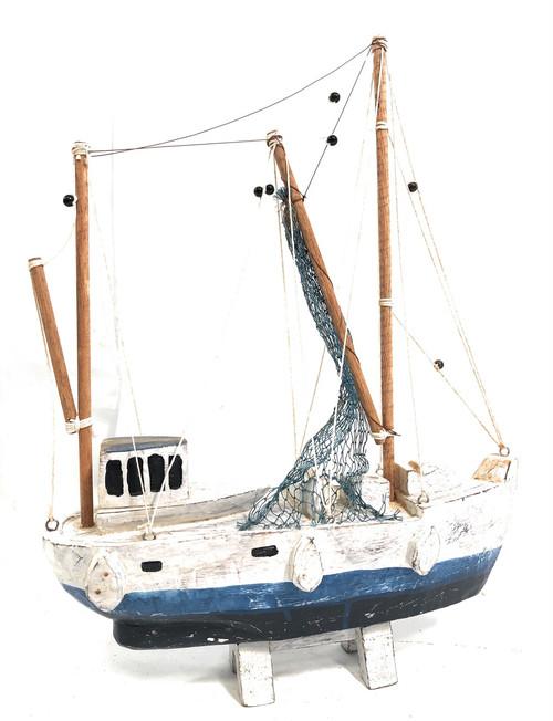 "Fishing Boat Replica 20"" Wooden - Yellow Nautical Decor   #Ata1800148b"