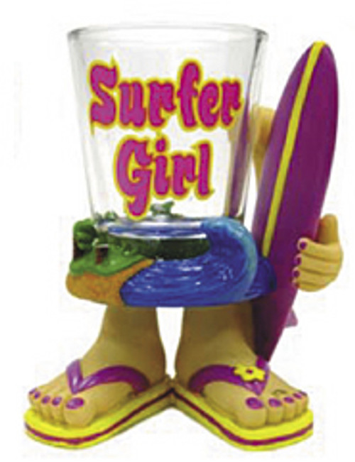 SURFER GIRL - NOVELTY SHOT GLASS - TIKI BAR