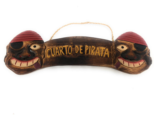 "Cuarto De Pirata Sign 24"" - Pirate Decor Wall Hanging 