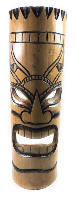 "Love bamboo Tiki Mask 20"" - Burnt Finish | #dpt509550"