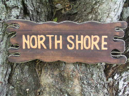 "NorthShore Driftwood Sign 20"" - Distress 