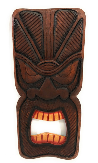 "Money Tiki Mask Shield 20"" Plaque - Pop Art Culture 