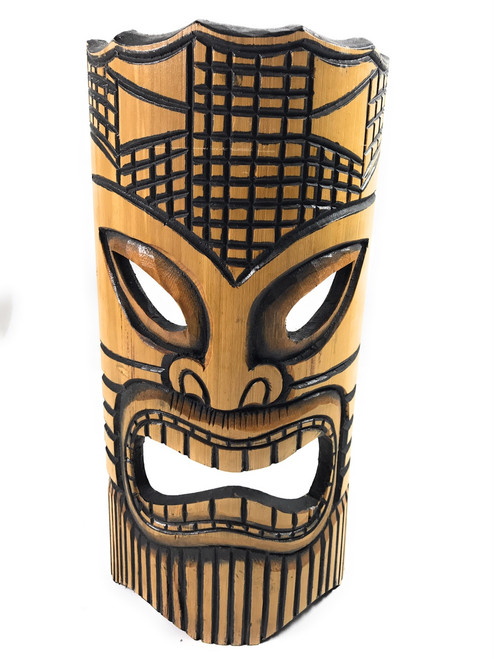 Happy Bamboo Tiki Mask 12"