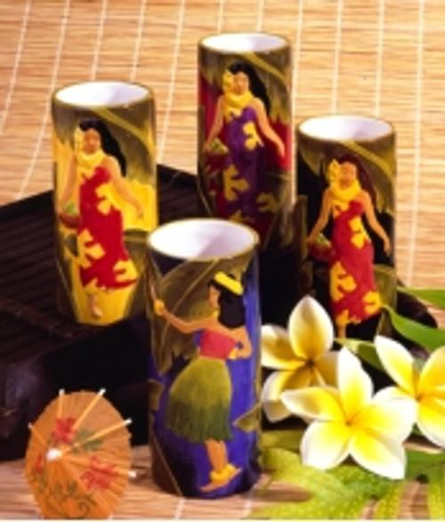 Vintage Island Beauties Ceramic Vase/Mug - Red | #ih1802503