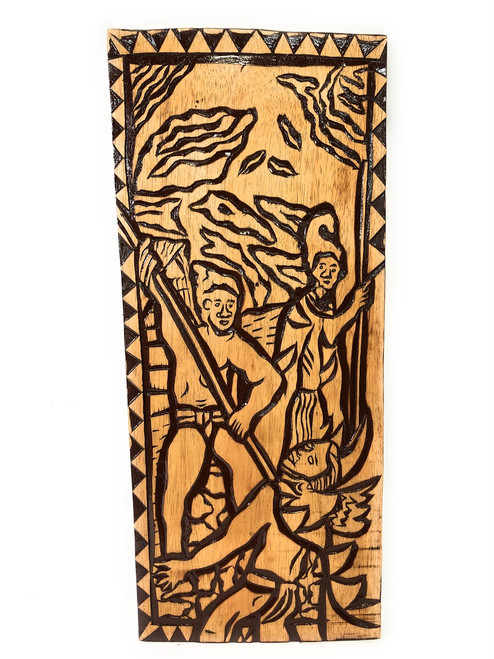 "King Of The Sandwich Islands Wood Panel 30"" X 12"" King Kamehameha - Polynesian Wall Art 