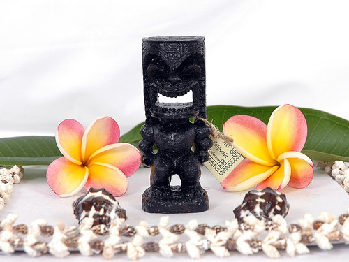 "Love Tiki 4"" Black - Hawaiian Gifts"