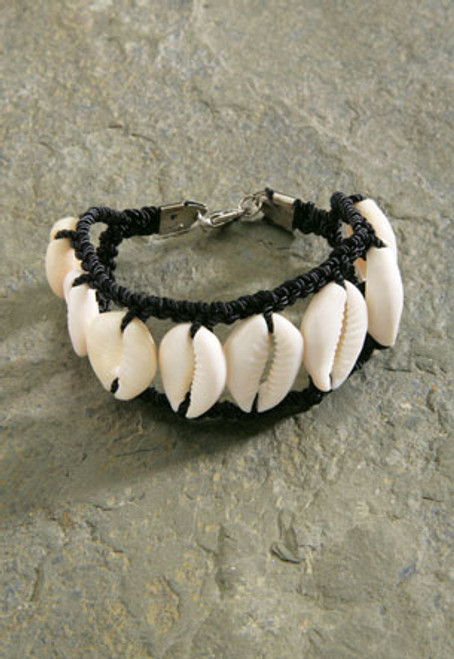 Sigay Parallel Shell Bracelet 7.5 in - Natural Shell