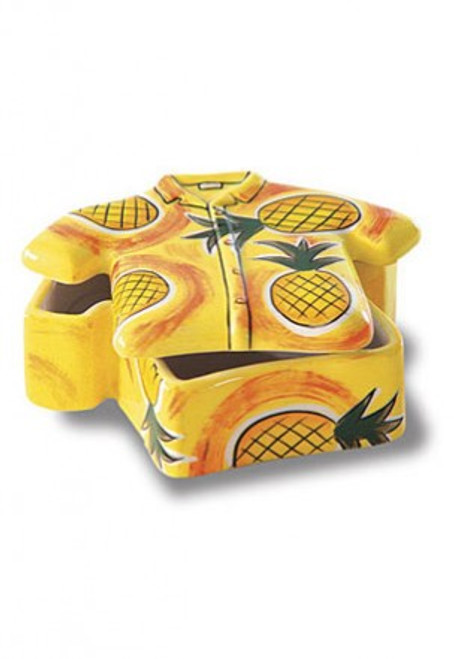 Aloha Shirt Ceramic Pineapple Keepsake box - Wedding Gifts