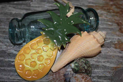 "Pineapple Christmas Ornament Ceramic 5"" - Hawaii 