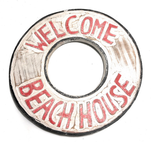 "Welcome, Beach House Sign 16"" - Beach Coastal Decor 