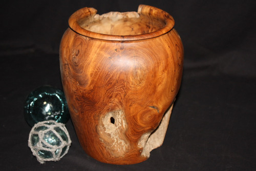 "Teak Root Jar 12"" X 10"" - Wooden Bowl Designer Collection"