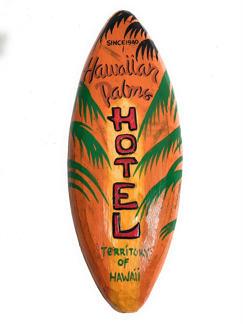 """Hawaiian Palms Hotel Since 1946"" - Replica Vintage Sign 