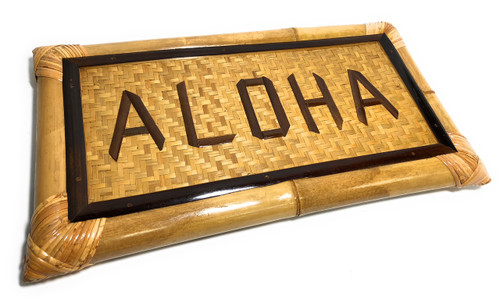 """Aloha Bamboo Sign 22"""" X 12"""" - Tropical Decor   #bag1500955"""