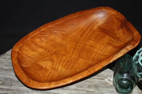 "Wooden Platter 12""X8""X2"" - Rustic Teak Root | #HWA111"
