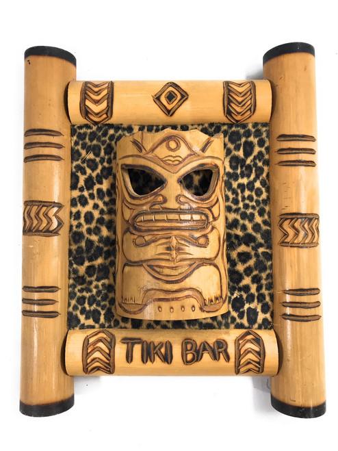 "Bamboo Tiki Bar Sign 12"" w/ Leopard Print - Pop Culture | #bag1501030"