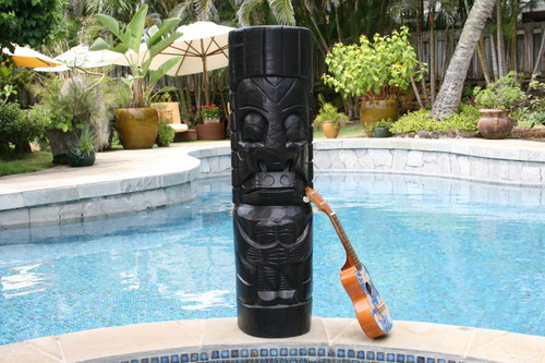 "Moai Tiki Totem 40"" - Modern Pop Art Culture 