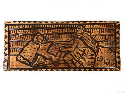 """The Maker Of Kings: Ke'Eaumoku Wood Panel 30"""" X 12"""" King Kamehameha - Polynesian Wall Art   #dpt5046"""