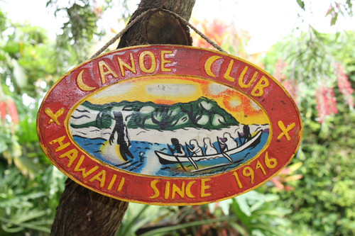 """Canoe Club, Hawaii Since 1946"" - Replica Vintage Sign | #dpt527040"