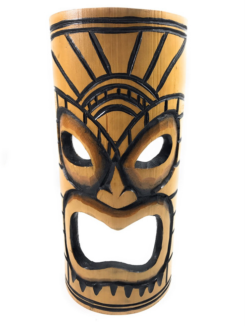 "Warrior Chief Bamboo Tiki Mask 12"" | #dpt509730"