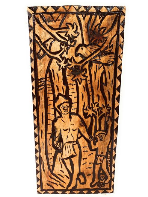"Return Of The King Wood Panel 30"" X 12"" King Kamehameha - Polynesian Wall Art   #dpt5047"