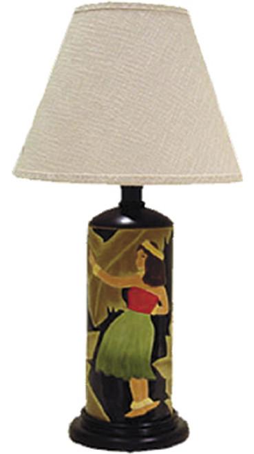 VINTAGE ISLAND BEAUTIES CERAMIC TABLE LAMP - BLACK