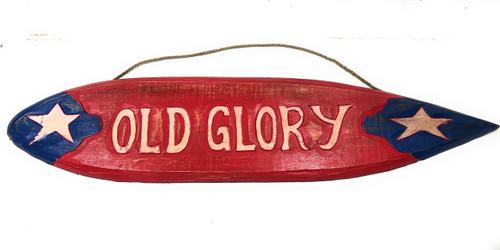"Old Glory Americana Surf Sign 40"" USA Texas Decor | #dpt531100"