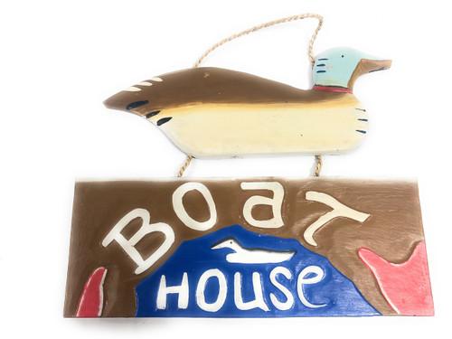 "Lake House Sign 15"" w/ Duck - Lake Coastal Decor   #dpt521440"