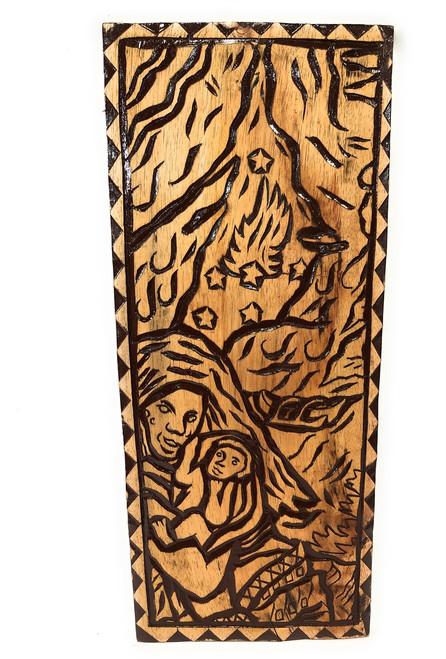 "A Stormy Birth Wood Panel 30"" X 12"" King Kamehameha - Polynesian Wall Art   #dpt5050"