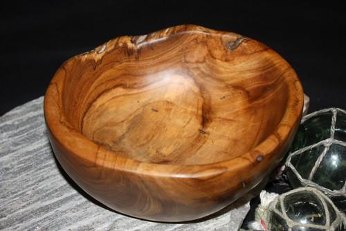 "Teak Root Wooden Bowl 8"" - Local Artist Designer   #HW2073"