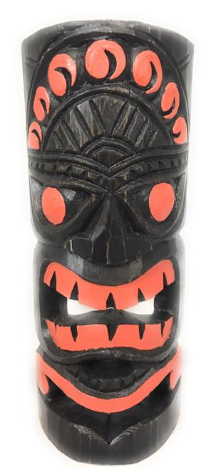 "Orange Sunset Tiki Mask 12"" - Carved/Painted | #dpt541130"