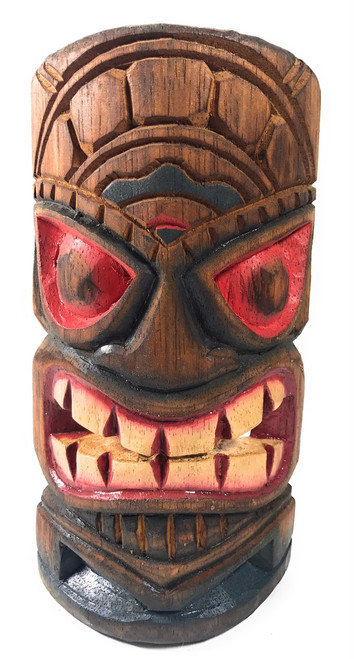 """Hospitality Tiki Mask 8"""" - Hand Carved Painted 