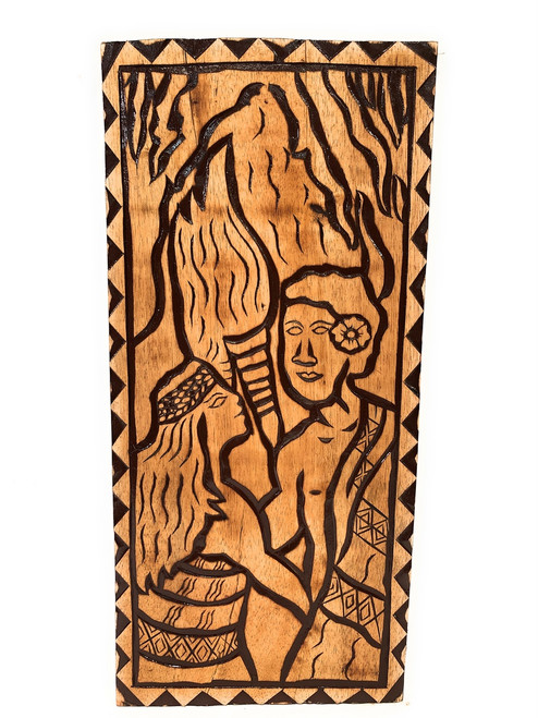 "The King's Love Wood Panel 30"" X 12"" King Kamehameha - Polynesian Wall Art 