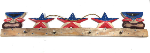 "Americana Tiki Hanger 40"" - USA Decor Texas Decor 