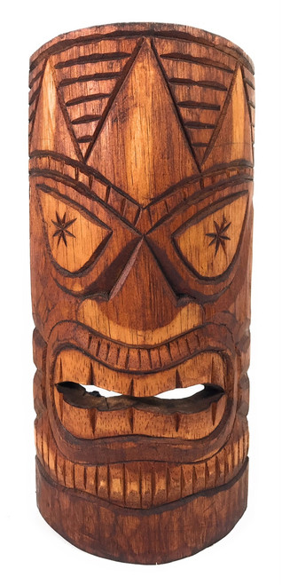 """Lucky Tiki Mask 12"""" - Antique Finish hand Carved 