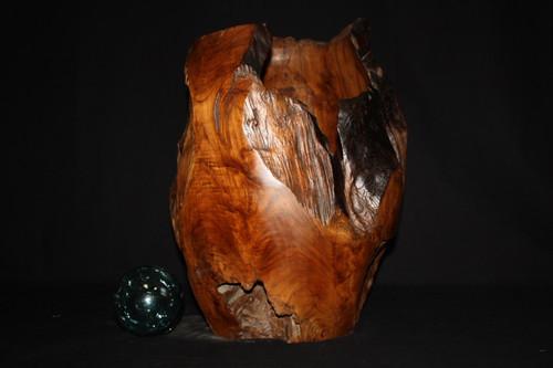 "Wooden Teak Root Jar 20"" X 15"" - Architectural Home Decor"