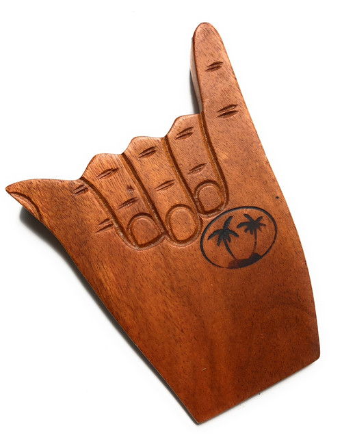 "Hang Loose Door Stopper 7"" - Acacia Koa 