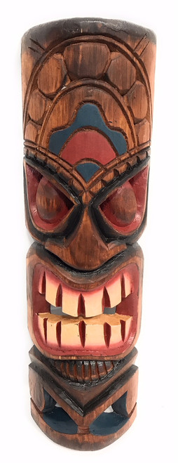 "Health Tiki Mask 20"" - Hand Carved/Painted 