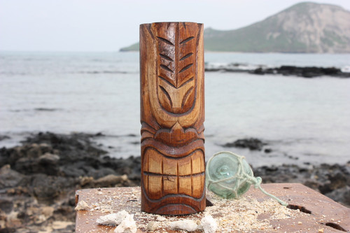 "Happy Tiki Totem 8"" - Antique Finish - Hawaii Gifts 