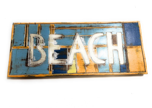 """Beach Sign 14"""" - Weathered Finish - Cottage Decor   #bds1208035"""