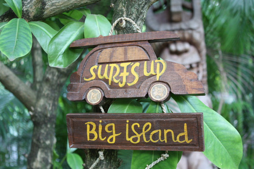 "Surf's Up, Big Island Woody Car Sign 10"" - Surf Decor | #dpt535225"